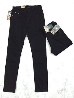 Quần Jeans Nam ống côn Đen Trơn 08.160