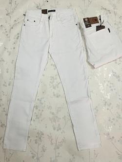 Quần Jeans Nam ống côn Trắng MS296
