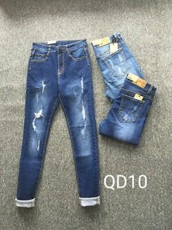 Quần Jean Nữ rách Có Cúp QD10
