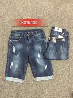 Quần sọt Jean nam rách X015.125