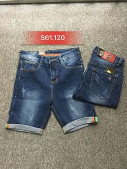 Quần sọt Jean nam xước S61.120