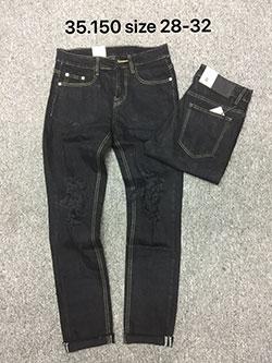 Quần jean nam đen rách 35.150