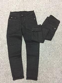 Quần jean nam ống côn màu đen skinny