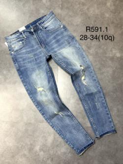 Quần jean dài nam rách R591.1