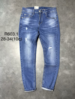 Quần jean dài nam rách R603.1