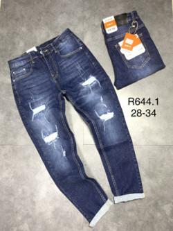 Quần jean dài nam rách lót R644.1