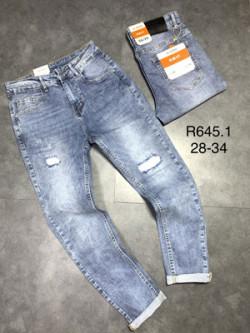 Quần jean dài nam rách lót R645.1