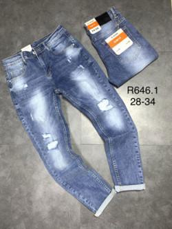 Quần jean dài nam rách lót R646.1