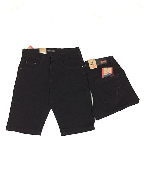 Quần Short Jeans Đen Nam MS183 - slide 1