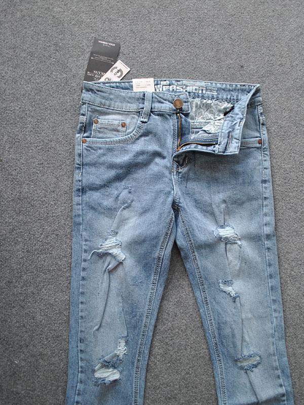 Quần Jeans Nam rách MS405 - slide 1