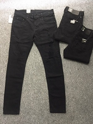Quần Jeans Nam Đen Rách 015.160