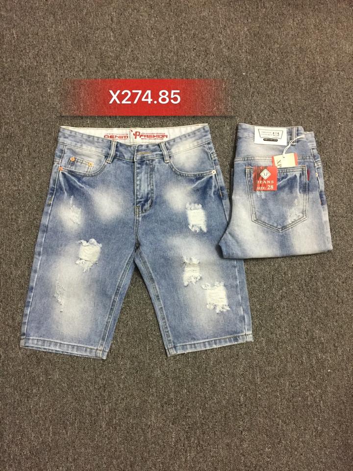 Quần sọt Jean nam rách X274.85 - slide 1