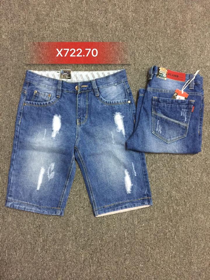 Quần sọt Jean nam rách X722.70 - slide 1