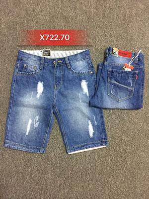 Quần sọt Jean nam rách X722.70