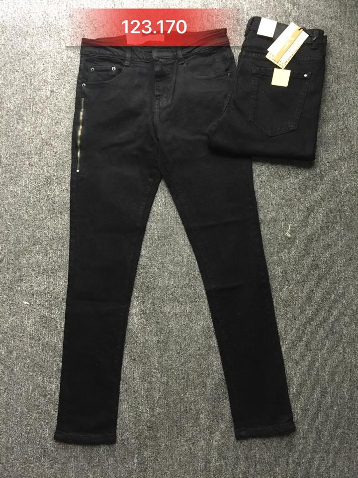 Quần jean nam đen ống côn 123.170 - slide 1