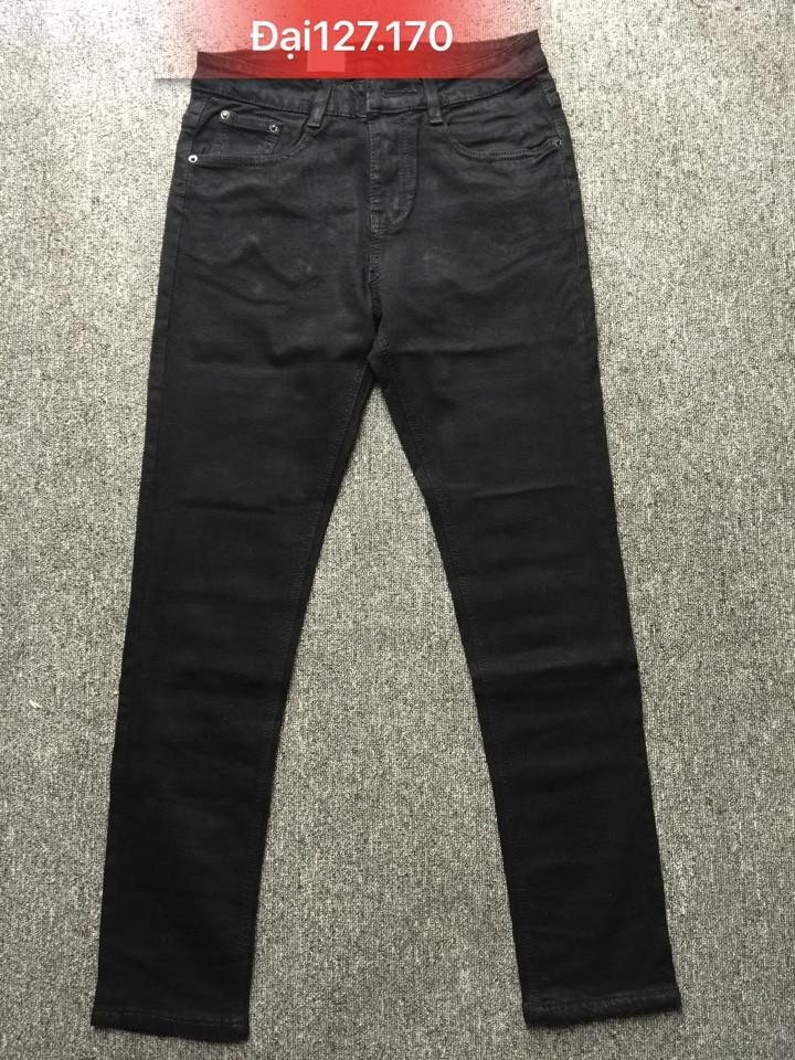 Quần jean nam ống côn đen size to 127.170 - slide 1