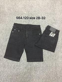 Quần sọt jean nam đen S164.120