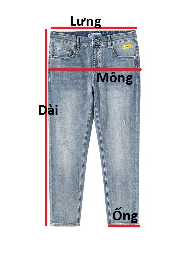 Quần jean dài nam rách R569.1 - slide 1