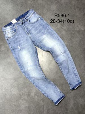 Quần jean dài nam rách R586.1