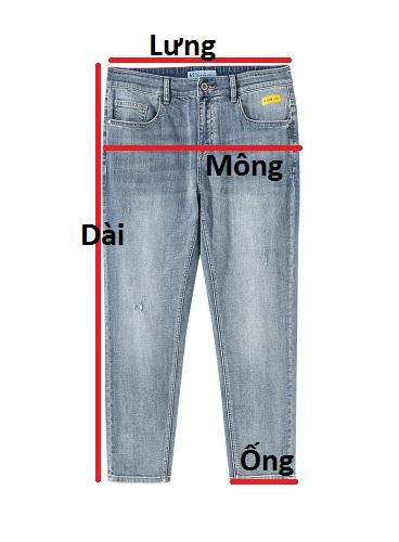 Quần jean dài nam rách R605.1 - slide 3
