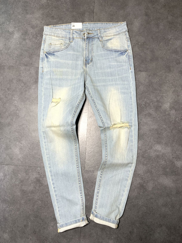 Quần jean dài nam rách R605.1 - slide 1
