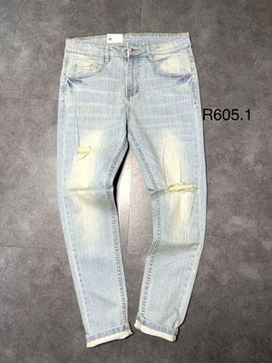 Quần jean dài nam rách R605.1
