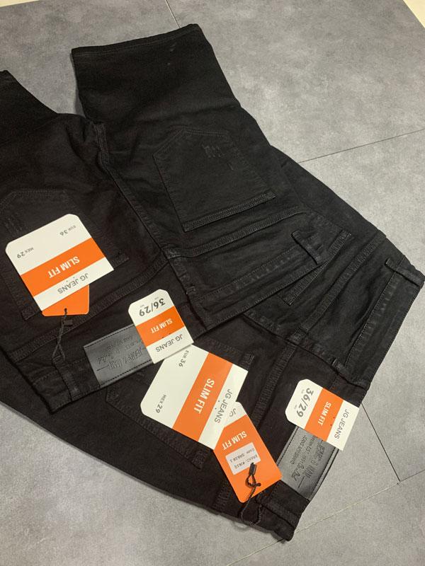 Quần jean sooc nam đen rách SR635.1 - slide 1
