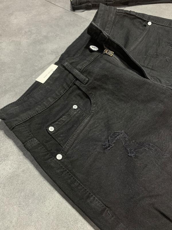 Quần jean sooc nam đen rách SR635.1 - slide 2
