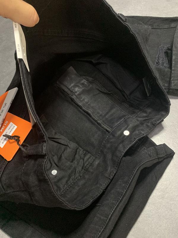 Quần jean sooc nam đen rách SR635.1 - slide 3