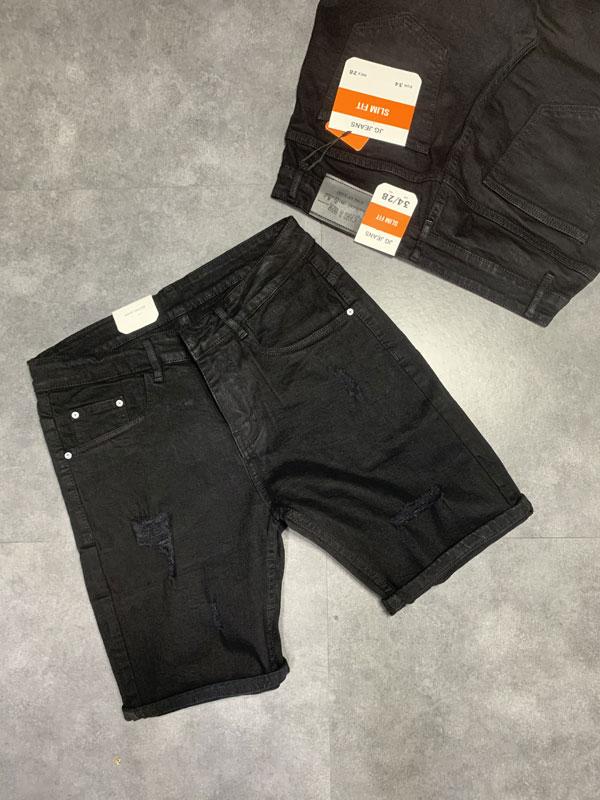 Quần jean sooc nam đen rách SR635.1 - slide 4