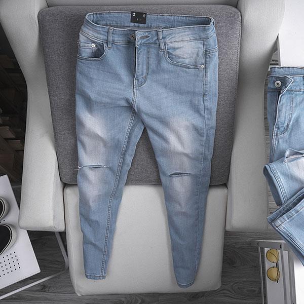 Quần jean dài nam rách R587.1 - slide 7