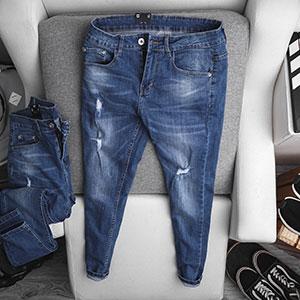 Quần jean dài nam rách R603