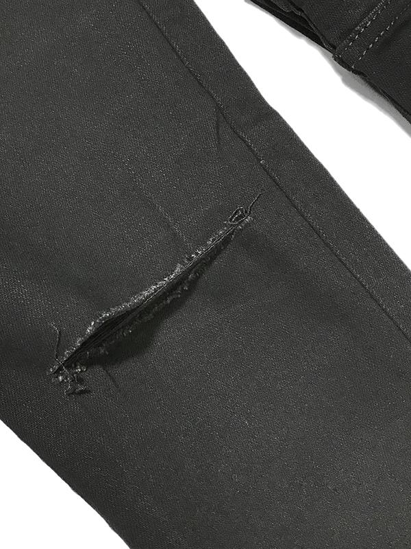 Quần jean nam đen rách gối A2S33 - slide 4