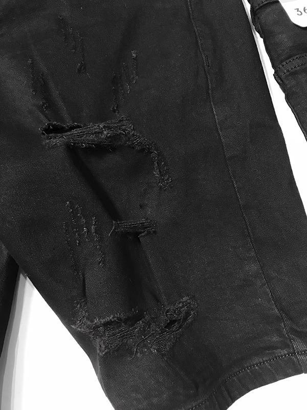 Quần jean sooc nam đen rách SR638.1 - slide 3